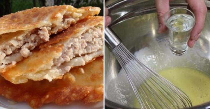 Когда готовлю чебуреки, замешиваю тесто только так! Корочка всегда хрустящая, а начинка невероятно сочная...